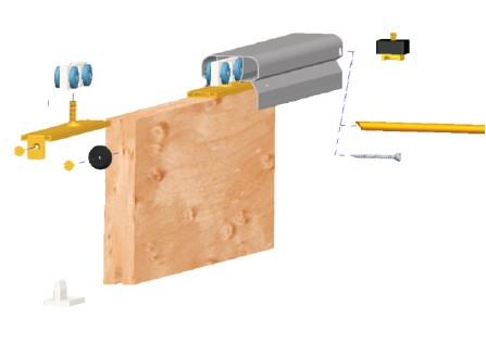 04 Sliding Door Track Kit With Slot For Brush Insulation